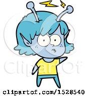 Poster, Art Print Of Cartoon Alien Girl