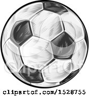 Clipart Of A Soccer Ball Royalty Free Vector Illustration by Domenico Condello