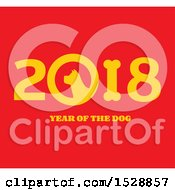 Yellow Chinese New Year 2018 With A Dog On Red