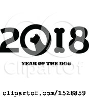 Black And White Chinese New Year 2018 With A Dog