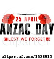 Clipart Of A Red Poppy Flower Anzac Day Design Royalty Free Vector Illustration