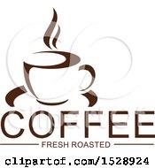 Dark Brown Coffee Fresh Roasted Design