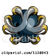 Clipart Of Eagle Claws Grasping A Bowling Ball Royalty Free Vector Illustration by AtStockIllustration