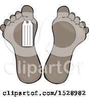 Clipart Of A Toe Tag On A Foot Royalty Free Vector Illustration