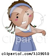 Clipart Of A Girl Scratching A Bug Bite Royalty Free Vector Illustration