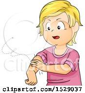 Boy Swatting Away A Mosquito