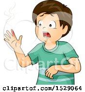 Brunette Boy With A Burnt Finger