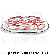 Sketched Plate Of Bacon