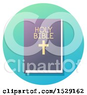 Holy Bible Christian Icon On A Gradient Circle