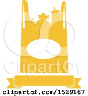 Silhouetted Shopping Bag Full Of Produce With A Banner