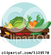 Clipart Of A Produce Farming Agriculture Icon Royalty Free Vector Illustration