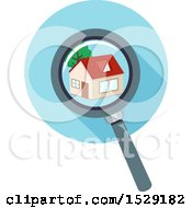 Magnifying Glass Over A Home