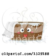 Clipart Of A Wooden Tub Character With Hot Water And A Towel Royalty Free Vector Illustration