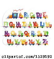Colorful Alphabet Train With Capital And Lowercase Letters