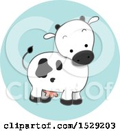 Clipart Of A Dairy Cow Agriculture Icon Royalty Free Vector Illustration