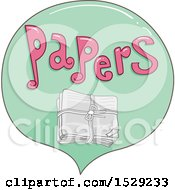 Clipart Of A Papers Recycling Label Royalty Free Vector Illustration
