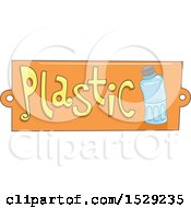 Clipart Of A Plastic Recycling Label Royalty Free Vector Illustration