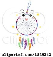 Clipart Of A Happy Dream Catcher Character Royalty Free Vector Illustration