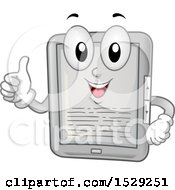 Happy Tablet Or E Reader Character Giving A Thumb Up