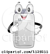 Clipart Of A One Liter Bottle Character Royalty Free Vector Illustration