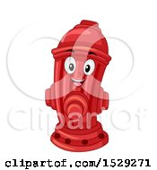 Clipart Of A Red Fire Hydrant Mascot Royalty Free Vector Illustration