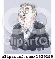 Painted Business Man On Gray Thomas Bach