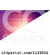 Clipart Of A Gradient Low Poly Geometric Business Card Or Background Design Royalty Free Vector Illustration