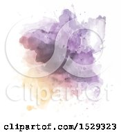 Clipart Of A Watercolor Painted Background Royalty Free Vector Illustration
