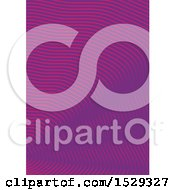 Clipart Of A Purple Waves Background Royalty Free Vector Illustration