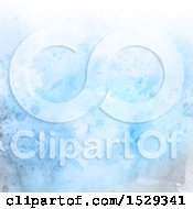Clipart Of A Blue Watercolor Painted Background Royalty Free Vector Illustration