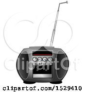 Clipart Of A Boombox Radio Royalty Free Illustration