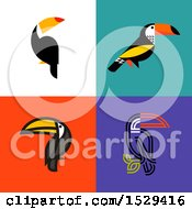 Clipart Of Toucan Bird Tiles Royalty Free Vector Illustration