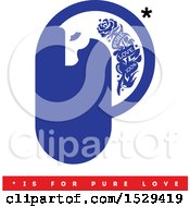 Clipart Of A Horse Head Letter P Tattoo Design With Pure Love And Other Text Royalty Free Vector Illustration by elena