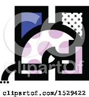 Clipart Of A Patterned Letter H Horse Design Royalty Free Vector Illustration by elena