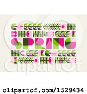 Spring Text Design With Flowers On Beige