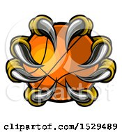 Clipart Of Eagle Claws Grasping A Basketball Royalty Free Vector Illustration by AtStockIllustration
