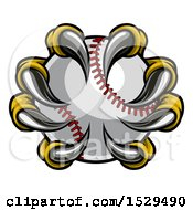 Clipart Of Eagle Claws Grasping A Baseball Royalty Free Vector Illustration by AtStockIllustration