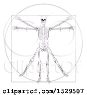 Clipart Of A Leonard Da Vincis Skeleton Vitruvian Man Royalty Free Vector Illustration