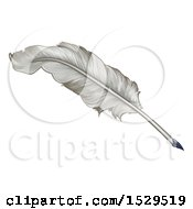Clipart Of A Feather Quill Pen Royalty Free Vector Illustration