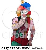 Clown Pointing Outwards
