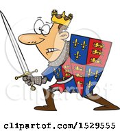 Clipart Of A Cartoon Man Henry V In Battle Royalty Free Vector Illustration
