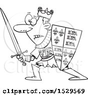 Cartoon Black And White Man Henry V In Battle