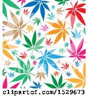 Poster, Art Print Of Colorful Marijuana Pot Leaf Background