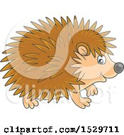 Clipart Of A Cute Hedgehog Royalty Free Vector Illustration by Alex Bannykh