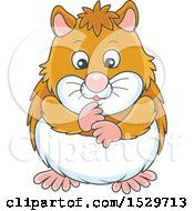 Clipart Of A Cute Hamster Royalty Free Vector Illustration by Alex Bannykh