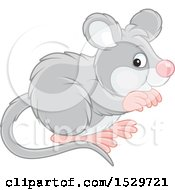 Clipart Of A Cute Mouse Royalty Free Vector Illustration