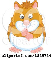 Clipart Of A Cute Hamster Royalty Free Vector Illustration