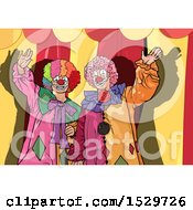 Two Clowns Against A Big Top