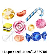 Clipart Of Classic Candies Royalty Free Vector Illustration