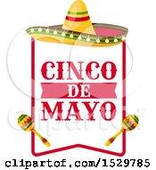 Cinco De Mayo Frame With A Sombrero And Maracas